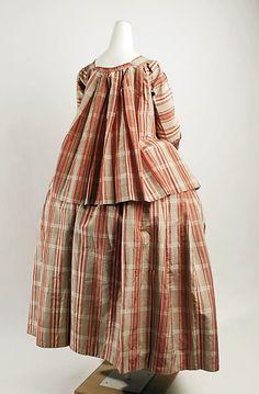 French Silk Caraco + Petticoat Date: 1770–90