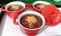 April fools party chili (choc cake or pudding w/orange tinted coconut and jelly 'beans')