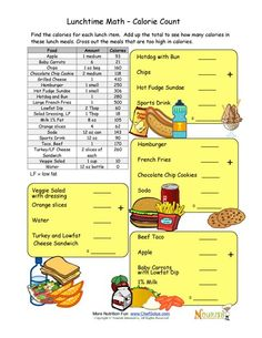 worksheets for reading food labels with answer key this would be