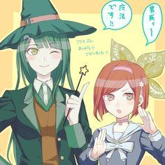 Tenko Chabashira and Himiko Yumeno.