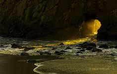 Keyhole Rock at Pfieffer Beach National Park, California, USA by Mark Wilburn