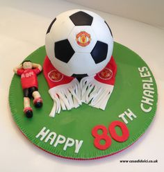 "6"" Manchester United Football Cake"