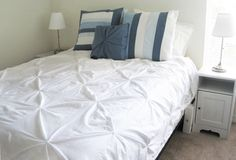 Pintuck White Duvet Cover Tutorial