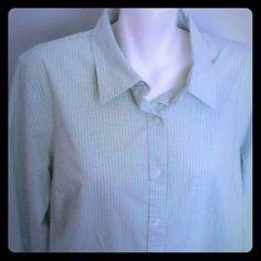 I just added this to my closet on Poshmark: Izod Woman Green Stripe Blouse Shirt 2X Plus. Price: $16 Size: 2X
