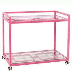 Palm Beach Pink Bar Cart