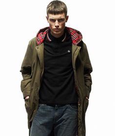 Merc London Green Tobias Fishtail Parka Coat