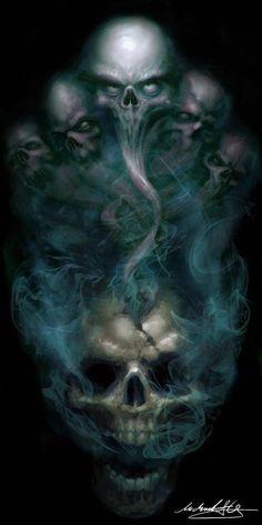 skull art black and white Skull Tattoo Design, Skull Tattoos, Body Art Tattoos, Dark Fantasy Art, Dark Art, Arte Horror, Horror Art, Art Noir, Totenkopf Tattoos