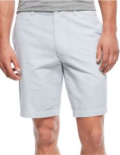 $16, Club Room Striped Seersucker Shorts. Sold by Macy's. Click for more info: https://lookastic.com/men/shop_items/251200/redirect