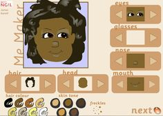 Me Maker is a fun avatar maker for primary students.    #kinderchat #spedchat #elemchat