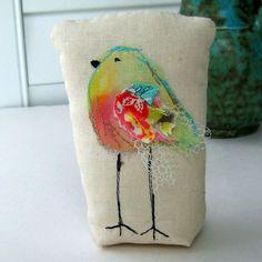 bird sculpture fabric bird mixed media bird bird door tracyBdesigns