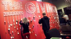 """The Giving Wall"" - 3D Wall Art. Every year, for Christmas, the church I attend (www.newliferenton.com) sets up a display in the main lobby ..."
