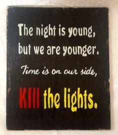 Matt Nathanson Kill The Lights lyric painting