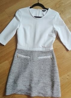Kup mój przedmiot na #vintedpl http://www.vinted.pl/damska-odziez/krotkie-sukienki/14797482-bialo-szara-sukienka-river-island