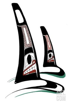 size: Collectable Print: Orcas by Danny Dennis : Artists Fine Art PrintbrEdition of brSigned and numbered by the artistbrbr Haida Kunst, Arte Haida, Haida Art, Native Art, Native American Indians, Orca Art, Haida Tattoo, Whale Tattoos, Inuit Art