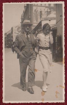 Original Photo Postcard Belgrade 1935 Serbia Costume Fashion Gentleman Lady | eBay