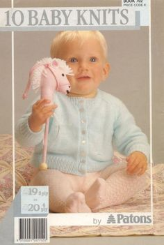 Patons 792 10 Child Knits : Free Obtain, Borrow, and Streaming : Web Archive Free Baby Sweater Knitting Patterns, Baby Knitting Free, Knitted Baby Cardigan, Knit Baby Sweaters, Knitted Baby Clothes, Baby Knits, Baby Boy Cardigan, Simply Knitting, Knit Patterns
