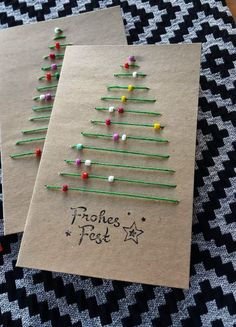 DIY Christmas Cards That Family & Friends Will Love! – Tracy McKenzie DIY Christmas Cards That Family & Friends Will Love! Yarn and Pony Bead Christmas Tree Cards Christmas Cards Handmade Kids, Christmas Tree Cards, Noel Christmas, Christmas Gifts, Christmas Ornaments, Creative Christmas Cards, Ornaments Ideas, Homemade Christmas Cards, Elegant Christmas