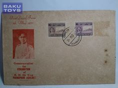 Perangko Thailand 1950 Coronation of King Bhumibol Adulyadej FDC