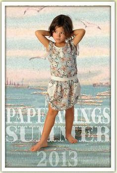 """Paper Wings """"Lots a Kittens"""" Drawstring Dress Size 7 - The Crooked Little Path"""