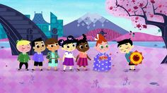 Visit Japan for a festival of kites. Some are pretty, some can fight, and some are really, really big.  {It's A Small World episode}