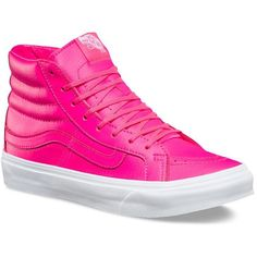 fd64c909bfe6aa Vans Neon Leather SK8-Hi Slim ( 70) ❤ liked on Polyvore featuring shoes