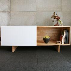 furniture // gus modern annex credenza modern media centers [ wood . white ]