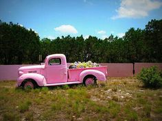 ...and what to my magical eyes did appear, but a pale pink truck and....