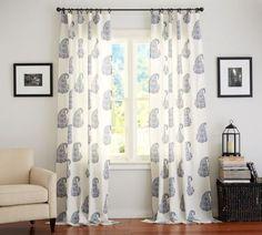 2-POTTERY-BARN-RAYNA-PAISLEY-DRAPES-BLUE-50-x-96-NEW-SET-WINDOW-PANELS