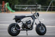 Cheap thrills: Racing custom Coleman mini bikes with Icon Mini Motorbike, Bobber Motorcycle, Moto Bike, Custom Street Bikes, Custom Bikes, Custom Mini Bike, Race Night, Old School Motorcycles, Ideas