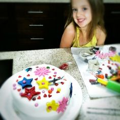 Cake, Decorated By Bali! @ Make Meaning - If you love fondant (and I DO!) you will love this cake + it's already baked, you get to decorate, & they clean up! #forklys1st #HBD