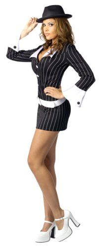 Halloween mobster lady costumes - fun for parties, too