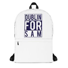 This medium size backpack is just what you need for daily use or sports activities! The pockets (including one for your laptop) give plenty of room for all your necessities, while the water-resistant material will protect them from the weather. Sports Activities, Dublin, Are You The One, Colorful Backgrounds, Football, Backpacks, Store, Bags, Collection