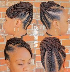 See 31 GORGEOUS braid hairstyles for Black women and kids. You'll get NEW ideas and updos for Black braided hair. Box braids hairstyles for girls & much more. Natural Braided Hairstyles, Natural Hair Braids, Braided Hairstyles For Black Women, African Braids Hairstyles, Braids For Black Hair, Twist Hairstyles, Hairstyles 2016, Black Braided Updo, African Braids Styles