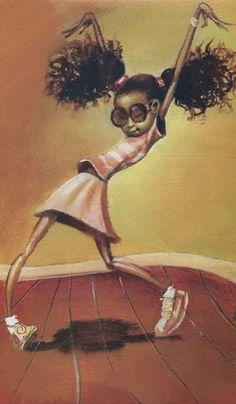 """Creativity beyond your imagination""  ~  Dream Catcher     Frank Morrisson  http://www.artpreneuredancequotes.com/2014/06/african-american-culture-creativity.html #dance #littledancer #danceart #painting #FrankMorrison"