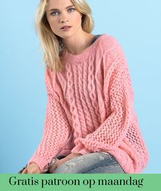 Gratis patroon op maandag - Breipatroon trui. Ontvang ieder maandag het gratis patroon en een leuke aanbieding van het garen.