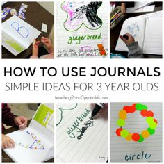 how to journal with 3 year olds