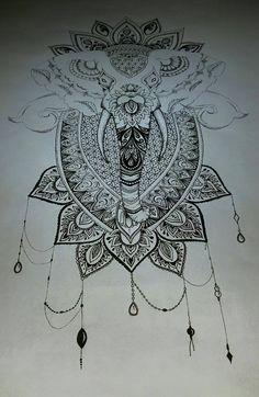 Mandala Elephant Finished by TanjaLouiseArtist on @DeviantArt