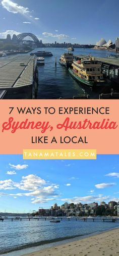 "7 things to do in order to experience Sydney, Australia as a local – This well researched guide will point the best beaches, brunch ""must haves"" and even an island in the middle of the city.  Explore beyond the Opera House and the Harbor!"