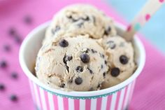 Chocolate Chunk Cookie Dough Frozen Yogurt. This is seriously delicious - my favorite frozen yogurt recipe yet. I do have an ice cream maker, but you don't even need one for this recipe. It's easy and awesome.