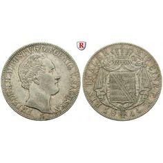 Sachsen, Königreich Sachsen, Friedrich August II., Taler 1844, ss+: Friedrich August II. 1836-1854. Taler 1844 G. AKS 99; sehr schön… #coins