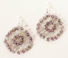 Free Crocheted Wire Medalion Earrings Pattern featured in Sova-Enterprises.com Newsletter!