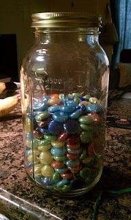a great gift for people trying to lose weight. especially if you decorated the jar!