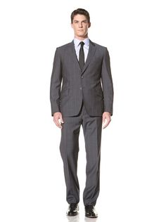 Beyond 50% OFF Paul Smith Men\'s Windowpane Suit (Gray)