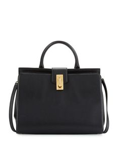 MARC JACOBS WEST END LARGE SATCHEL BAG. #marcjacobs #bags #shoulder bags #hand bags #leather #satchel #lining #