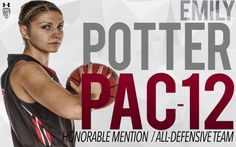 Emily Potter Recognized by Pac-12 on All-DefensiveTeam & Honorable Mention All-Star   Redshirt junior forward Emily Potter of Winnipeg has been named to the Pac-12 All-Defensive team and honorable mention on the all-conference team Commissioner Larry Scott announced Tuesday after a vote by the league's head coaches.Her defensive efforts landed her on the Pac-12 All-Defensive team after earning all-defensive honorable mention last season. Potter leads the Pac-12 in blocked shots with 86…