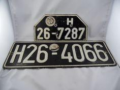 2 Schilder KFZ Kenzeichen WK2 Fritzlar Homberg H 26 schwarz mit weißer Schrift