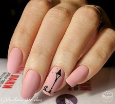 Festive pink nails, Gentle nails with a picture, Ideas of gentle nails, Long nails, Manicure Classy Nails, Fancy Nails, Stylish Nails, Pretty Nails, Nail Art Design Gallery, Best Nail Art Designs, Beautiful Nail Designs, Matte Nails, Diy Nails