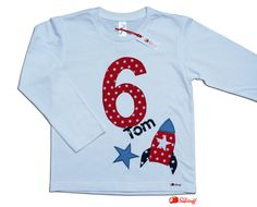 Items similar to Rocket Birth Birthday Shirt Boys, Shirt Birthday for Kids with Number and Name, Stars, Long Long sleeve Shirt or Short sleeve, T-Shirt on Etsy Space Party, Kili, Birthday, Mens Tops, David, Space, Free Pattern, Guys, Rockets
