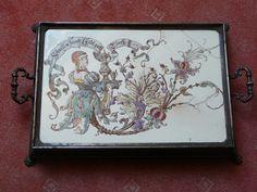 Villeroy & Boch Mettlach Tablett um 1880