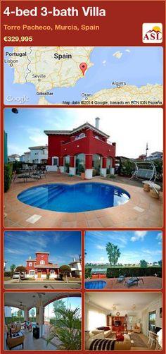 4-bed 3-bath Villa in Torre Pacheco, Murcia, Spain ►€329,995 #PropertyForSaleInSpain